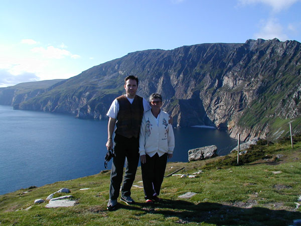 Mom and I on the cliffs of Donegal, Ireland