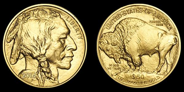 Gold American Buffalo Coin