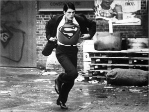 Superman on his way