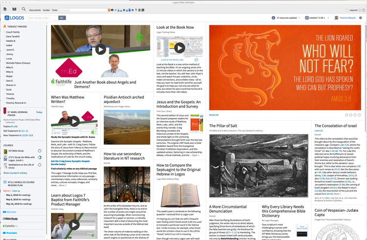 Logos Front Page
